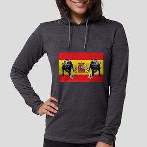 Spanish Football Bull Flag Womens Hooded Shirt