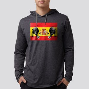 Spanish Football Bull Flag Mens Hooded Shirt