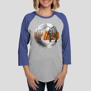 Spanish Soccer Ball Womens Baseball Tee