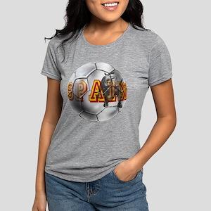 Spanish Soccer Ball Womens Tri-blend T-Shirt
