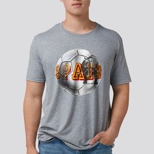 Spanish Soccer Ball Mens Tri-blend T-Shirt