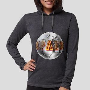 Spanish Soccer Ball Womens Hooded Shirt