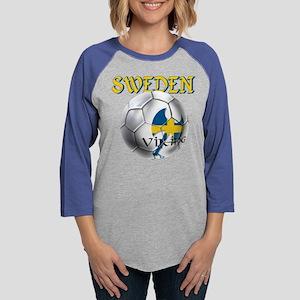 Sweden Football Womens Baseball Tee