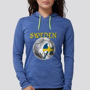 Sweden Football Womens Hooded Shirt