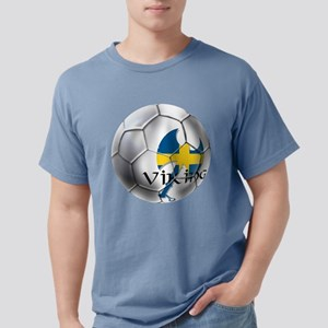 Sweden Soccer Ball Mens Comfort Colors Shirt