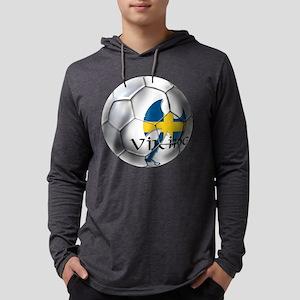Sweden Soccer Ball Mens Hooded Shirt