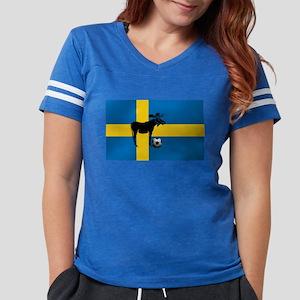 Swedish Soccer Elk Flag Womens Football Shirt