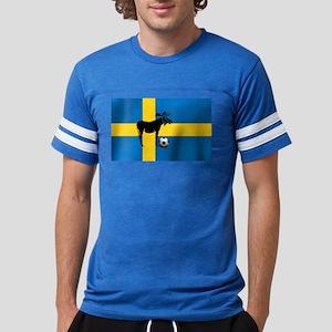 Swedish Soccer Elk Flag Mens Football Shirt