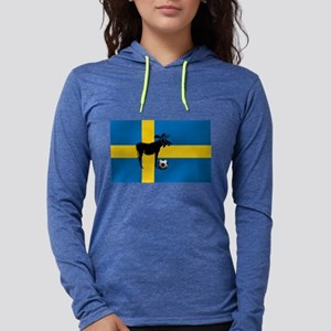Swedish Soccer Elk Flag Womens Hooded Shirt