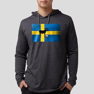 Swedish Soccer Elk Flag Mens Hooded Shirt