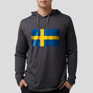 Flag of Sweden Mens Hooded Shirt