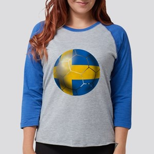 Sweden Soccer Ball Womens Baseball Tee