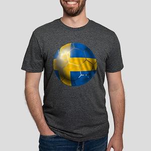 Sweden Soccer Ball Mens Tri-blend T-Shirt