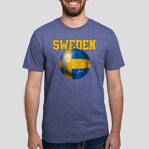 Sweden Football Mens Tri-blend T-Shirt