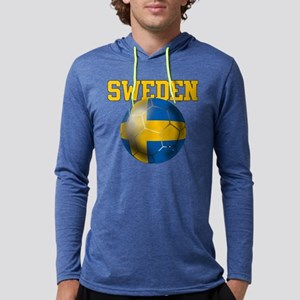 Sweden Football Mens Hooded Shirt
