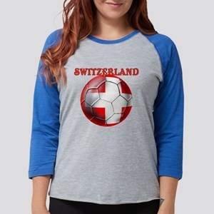 Switzerland Soccer Womens Baseball Tee
