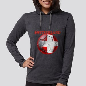 Switzerland Soccer Womens Hooded Shirt