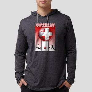 Switzerland Soccer Mens Hooded Shirt
