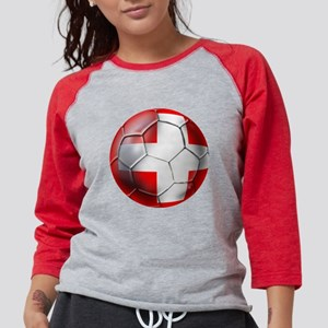 Switzerland Football Womens Baseball Tee
