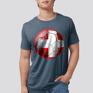 Switzerland Football Mens Tri-blend T-Shirt