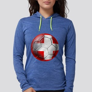 Switzerland Football Womens Hooded Shirt