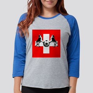 Swiss Football Flag Womens Baseball Tee