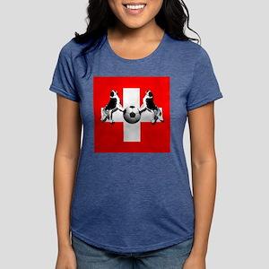 Swiss Football Flag Womens Tri-blend T-Shirt