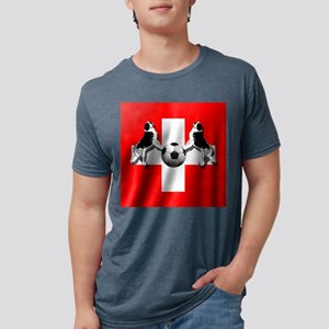 Swiss Football Flag Mens Tri-blend T-Shirt