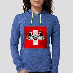 Swiss Football Flag Womens Hooded Shirt