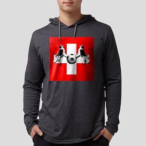 Swiss Football Flag Mens Hooded Shirt