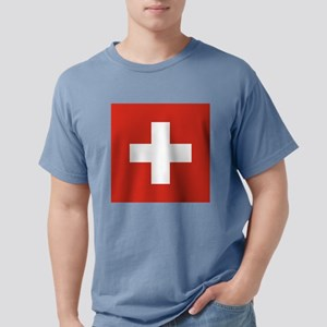 Flag of Switzerland Mens Comfort Colors Shirt