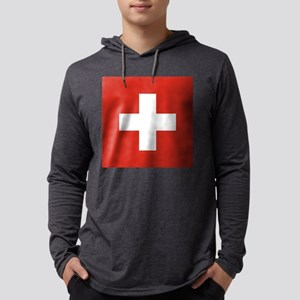 Flag of Switzerland Mens Hooded Shirt