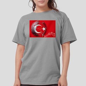 Turkey Football Flag Womens Comfort Colors Shirt