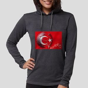 Turkey Football Flag Womens Hooded Shirt