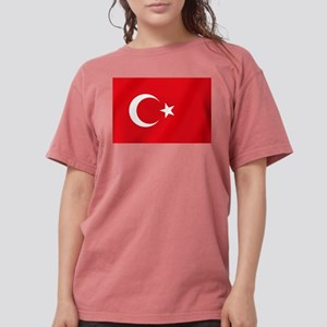 Flag of Turkey Womens Comfort Colors Shirt