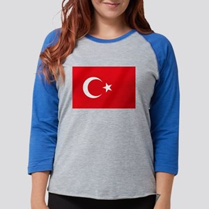 Flag of Turkey Womens Baseball Tee