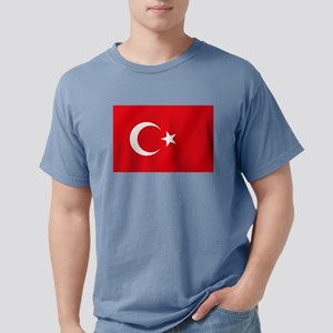 Flag of Turkey Mens Comfort Colors Shirt