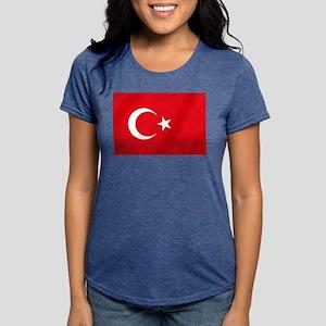 Flag of Turkey Womens Tri-blend T-Shirt