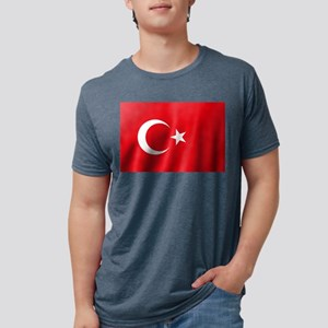 Flag of Turkey Mens Tri-blend T-Shirt