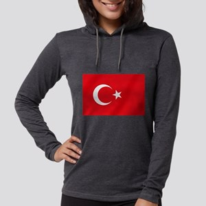 Flag of Turkey Womens Hooded Shirt