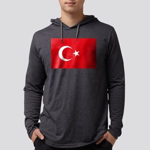Flag of Turkey Mens Hooded Shirt