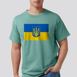 Ukrainian Flag Mens Comfort Colors Shirt