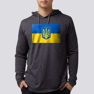 Ukrainian Flag Mens Hooded Shirt