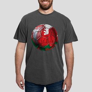 Welsh Dragon Football Mens Comfort Colors Shirt