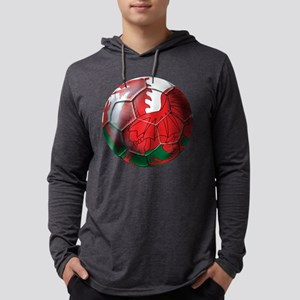Welsh Dragon Football Mens Hooded Shirt