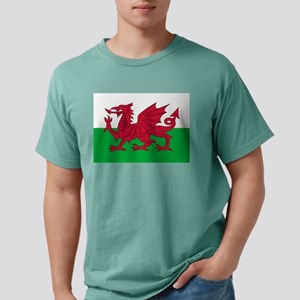 Welsh Flag of Wales Mens Comfort Colors Shirt