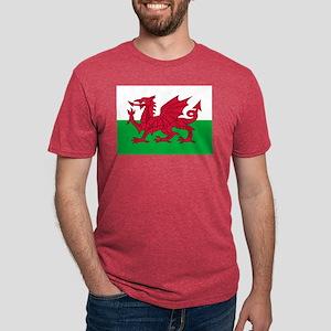 Welsh Flag of Wales Mens Tri-blend T-Shirt