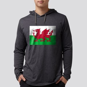 Welsh Flag of Wales Mens Hooded Shirt