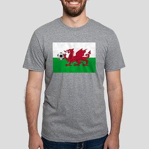 Wales Football Mens Tri-blend T-Shirt