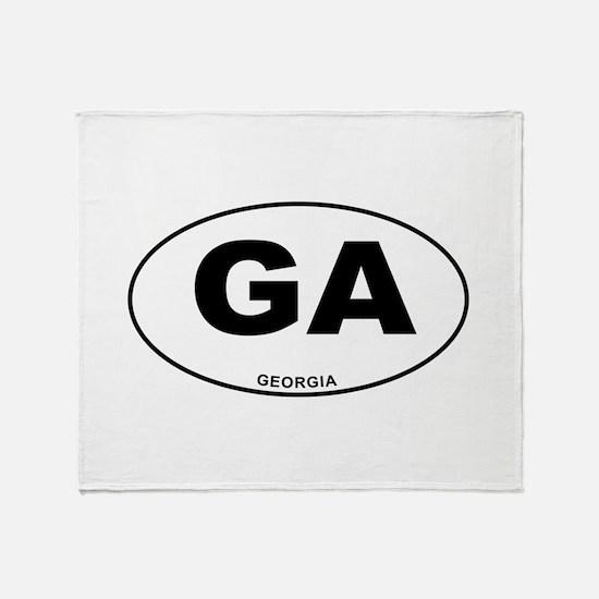 Georgia State Throw Blanket